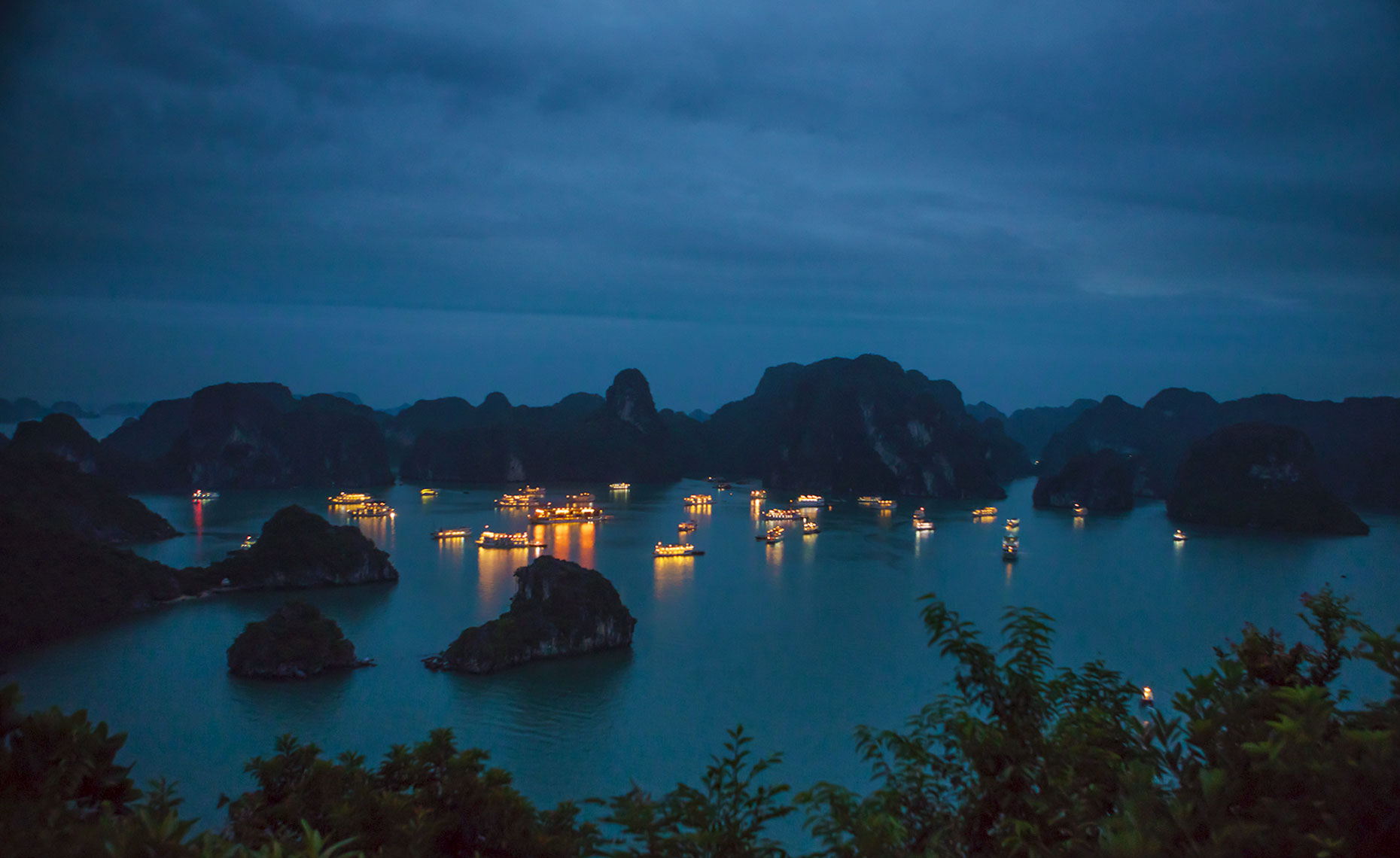 Ha Long Bay, Vietnam, at night
